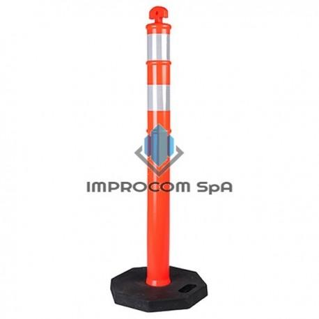 HITO PVC DELINEADOR 2 CINTAS 115 CM